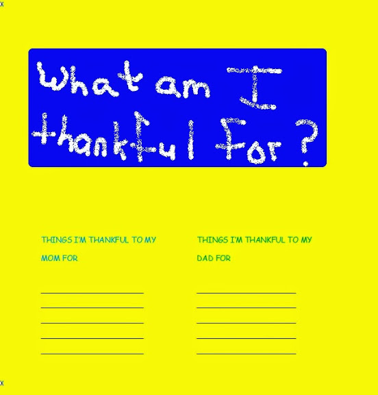 Kids Work Shop - What Am I thankful for